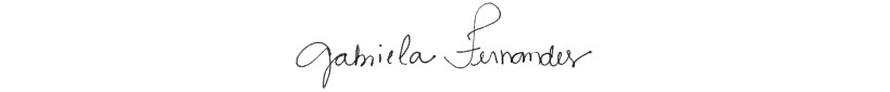 Assinatura Gabriela Fernandes